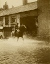 Mill House Inn, Leicester Road during floods in the 1920s