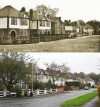 Elms Drive, Quorn � then and now
