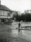 Floods at Quorn Cross in the 1950s or 1960s.