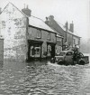 Floods on Station Road, probably 1947