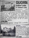 Quorn property for sale - January 1985