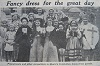Quorn's Coronation pageant and comic football rained off - 1953